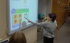 At the Smart Board